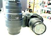 SIGMA SA-7 SLR FILM CAMERA w/28-80mm & 70-300mm LENSES